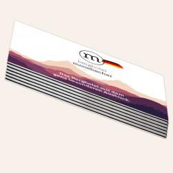Visitenkarten mit schwarzem Farbkern, 85x55mm, 4c/4c, Deutschland