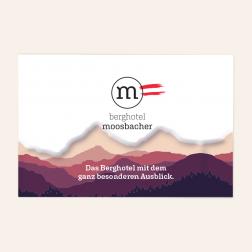 Letterpress Visitenkarten 85x55mm, 4c/4c, -Österreich-
