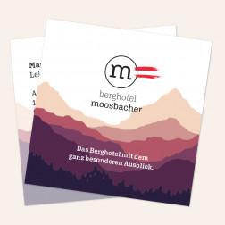 Visitenkarten quadratisch 69x69mm 4c4c -Österreich-