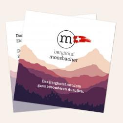 Visitenkarten quadratisch 69x69mm 4c4c Schweiz