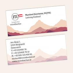 Visitenkarten mini 70x30mm, 4c4c, -Österreich-