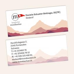 Visitenkarten mini 70x30mm, 4c4c, Schweiz