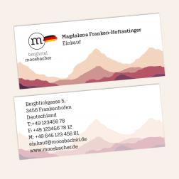 Visitenkarten mini 70x30mm, 4c4c, Deutschland