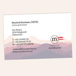 Visitenkarte 85x55mm 4c0c -Österreich-