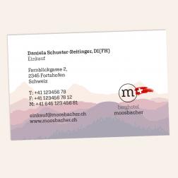 Visitenkarte 85x55mm 4c0c Schweiz