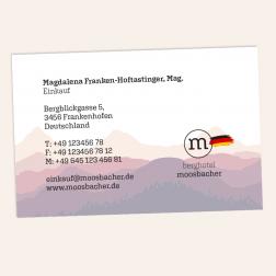 Visitenkarte 85x55mm 4c0c Deutschland