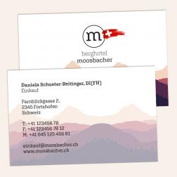 Visitenkarte 85x55mm 4c4c Schweiz